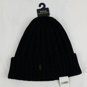 Polo Ralph Lauren Men's Wool Ribbed Beanie Hat